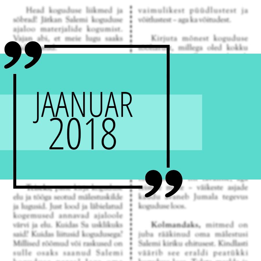 Salemi kuukiri 2018 jaanuar
