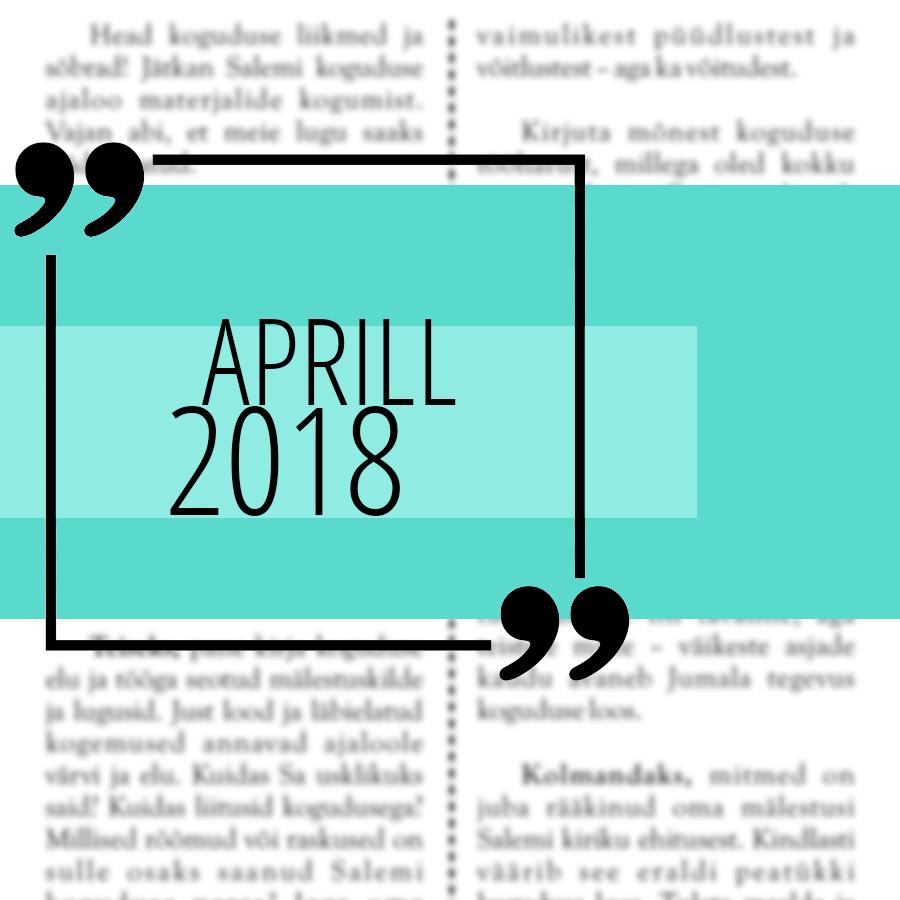 Salemi kuukiri 2018 aprill