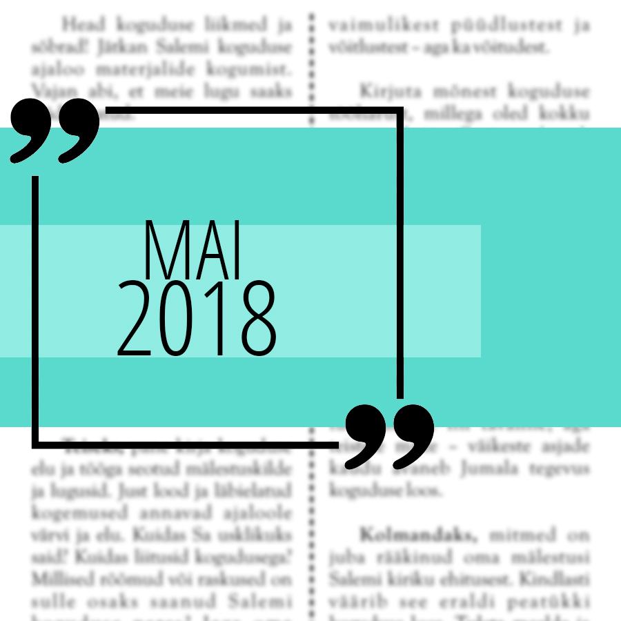Salemi kuukiri 2018 mai