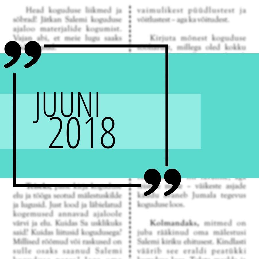 Salemi kuukiri 2018 juuni