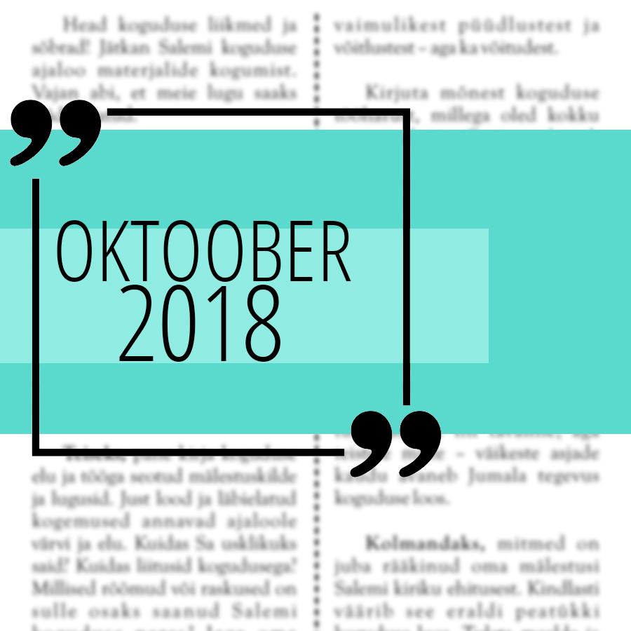 Salemi kuukiri 2018 oktoober