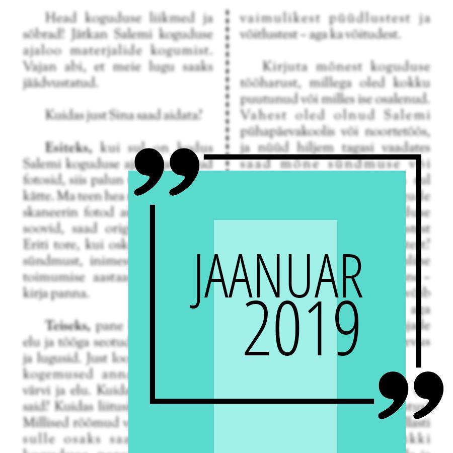 Salemi kuukiri 2019 jaanuar