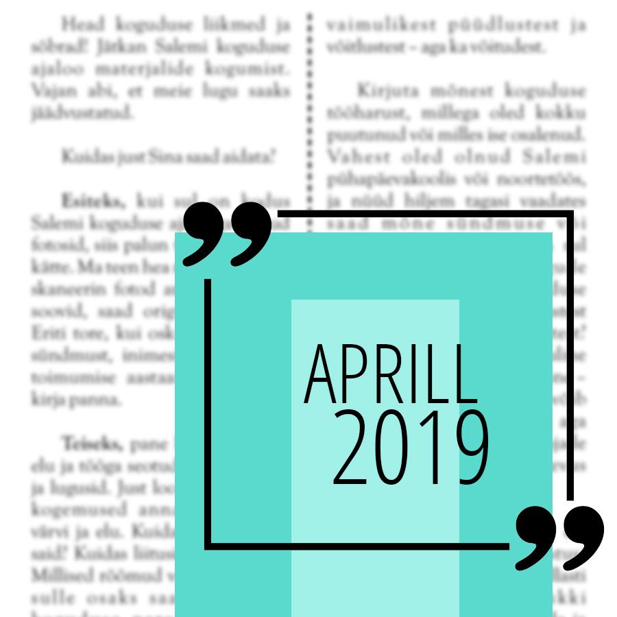 Salemi kuukir 2019 aprill