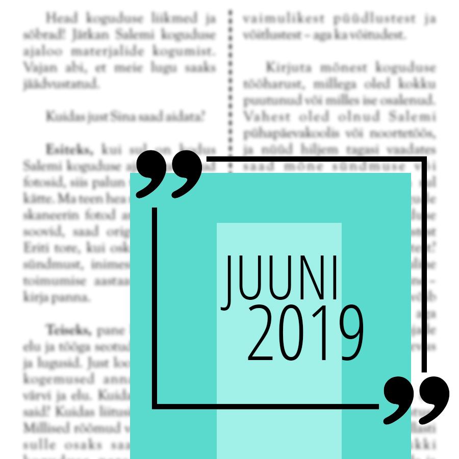 Salemi kuukiri juuni 2019